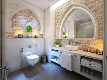 good looking bathroom after bathroom renovations in chicago